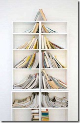 bookcase christmas tree
